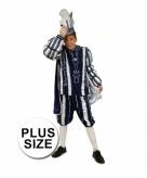 Plus size blauw prins carnaval kostuum voor heren