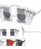 Pokerface zonnebril zwart voor volwassenen