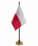 Polen versiering tafelvlag 10 x 15 cm