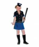 Politie jurkje deluxe voor meisjes