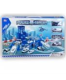 Politie speelgarage met voertuigen
