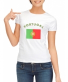 Portugese vlag t-shirt voor dames