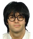 Pruik nerd met grote bril