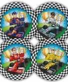 Race formule 1 thema bordjes 23 cm 16 stuks