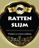 Ratten slijm flessen etiket