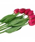 Realistische roze tulpen bos 48 cm
