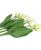 Realistische witte tulpenbos 48 cm