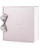 Receptie gastenboek parel roze