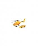 Reddingsteam speelset gele helikopter en auto