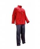 Regenkleding rood grijs volwassenen