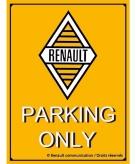 Renault metalen plaat voor aan de muur