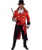 Rode baron verkleed jas voor heren