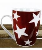 Rode beker met witte sterren