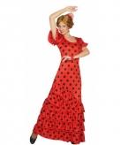 Rode flamenco verkleedjurk voor dames