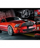 Rode ford mustang maxi poster 61 x 91 5 cm