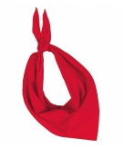 Rode hals zakdoeken bandana style