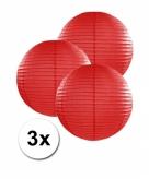 Rode lampionnen 25 cm 3 stuks