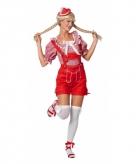 Rode oktoberfest lederhose voor dames