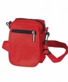 Rode schoudertasjes 15 cm