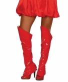 Rode sexy laarshoezen voor vrouwen