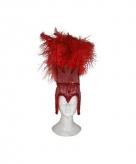 Rode showgirl hoofdtooi