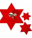 Rode ster onderzetter 6 stuks