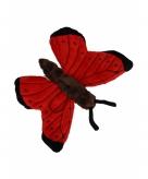Rode vlinder knuffeldier 21 cm