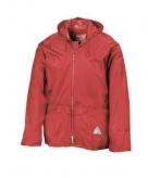 Rode waterdichte jas en broek voor volwassenen
