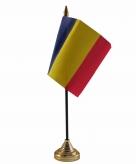 Roemenie versiering tafelvlag 10 x 15 cm