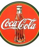 Ronde coca cola muurdecoratie metaal 30 cm