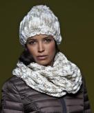 Ronde gebreide sjaal voor volwassenen