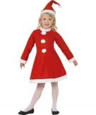 Rood kerstjurkje voor meisjes