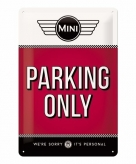 Rood muurbordje mini parking only