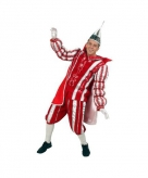 Rood prins carnaval kostuum voor heren