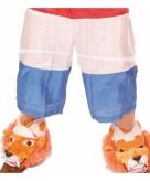 Rood wit blauwe korte broek