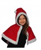 Rood witte kerst cape voor kinderen
