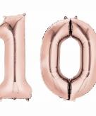 Rose gouden ballon 10 jaar
