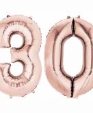 Rose gouden ballon 30 jaar
