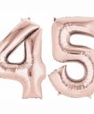 Rose gouden ballon 45 jaar