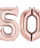Rose gouden ballon 50 jaar