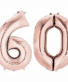 Rose gouden ballon 60 jaar