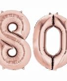Rose gouden ballon 80 jaar