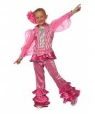 Roze disco kostuum voor meiden