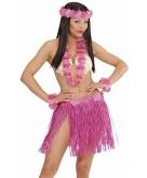 Roze hawaii kostuum set voor dames
