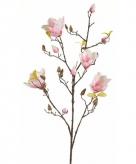 Roze magnolia kunstbloem 105 cm