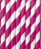 Roze met witte rietjes