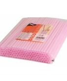 Roze shake rietjes 25 cm 135 st