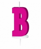 Roze taart kaarsje letter b
