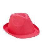 Roze trilby hoedjes voor volwassenen