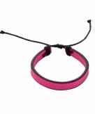 Roze verstelbaar armbandje 5 7 cm